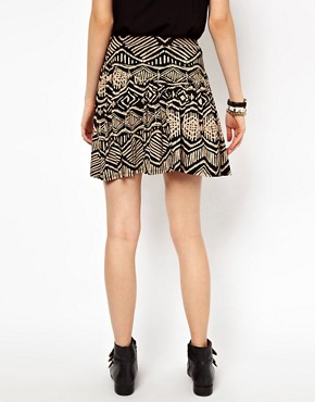 Image 2 ofRiver Island Skater Skirt In Aztec Print