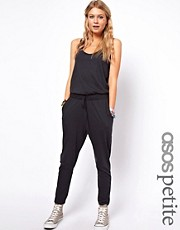 ASOS PETITE Exclusive Onesie With Tie Front