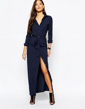 Missguided Belted Maxi Shirt Dress