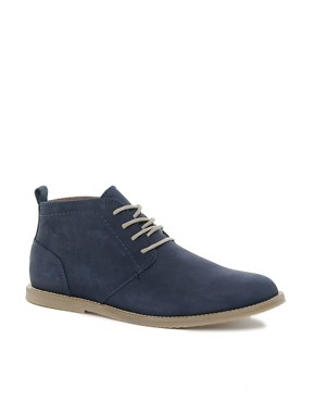 Image 1 ofRiver Island Baker Nubuck Chukka Boots