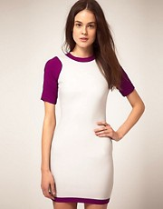 Camilla & Marc Color Block Dress With Fluro Zip