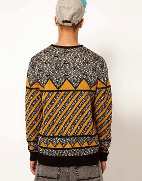 Image 2 ofASOS Geometric Jumper