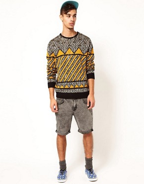 Image 4 ofASOS Geometric Jumper
