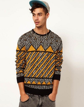 Image 1 ofASOS Geometric Jumper