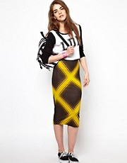 House of Holland Check Tube Skirt