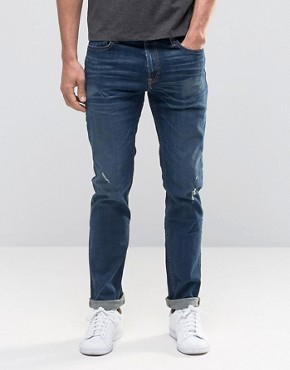 Hollister Skinny Jean In Dark Wash