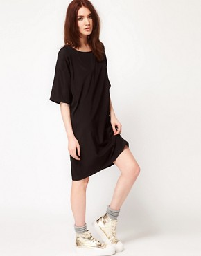 Image 4 ofAmerican Apparel Oversized T-Shirt Dress