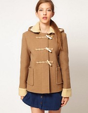 Gloverall Heritage Duffle Coat with Sherpa Trims