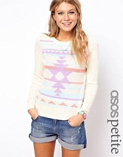 ASOS PETITE Exclusive Navajo Jumper