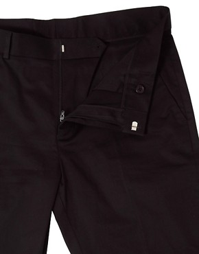 Image 3 ofASOS Skinny Fit  Sateen Smart Trousers in Black