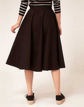 Image 2 ofASOS Fit And Flare Midi Skirt