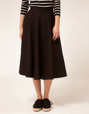 Image 4 ofASOS Fit And Flare Midi Skirt