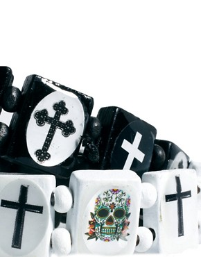 Image 3 ofRiver Island Skull Bracelet Pack
