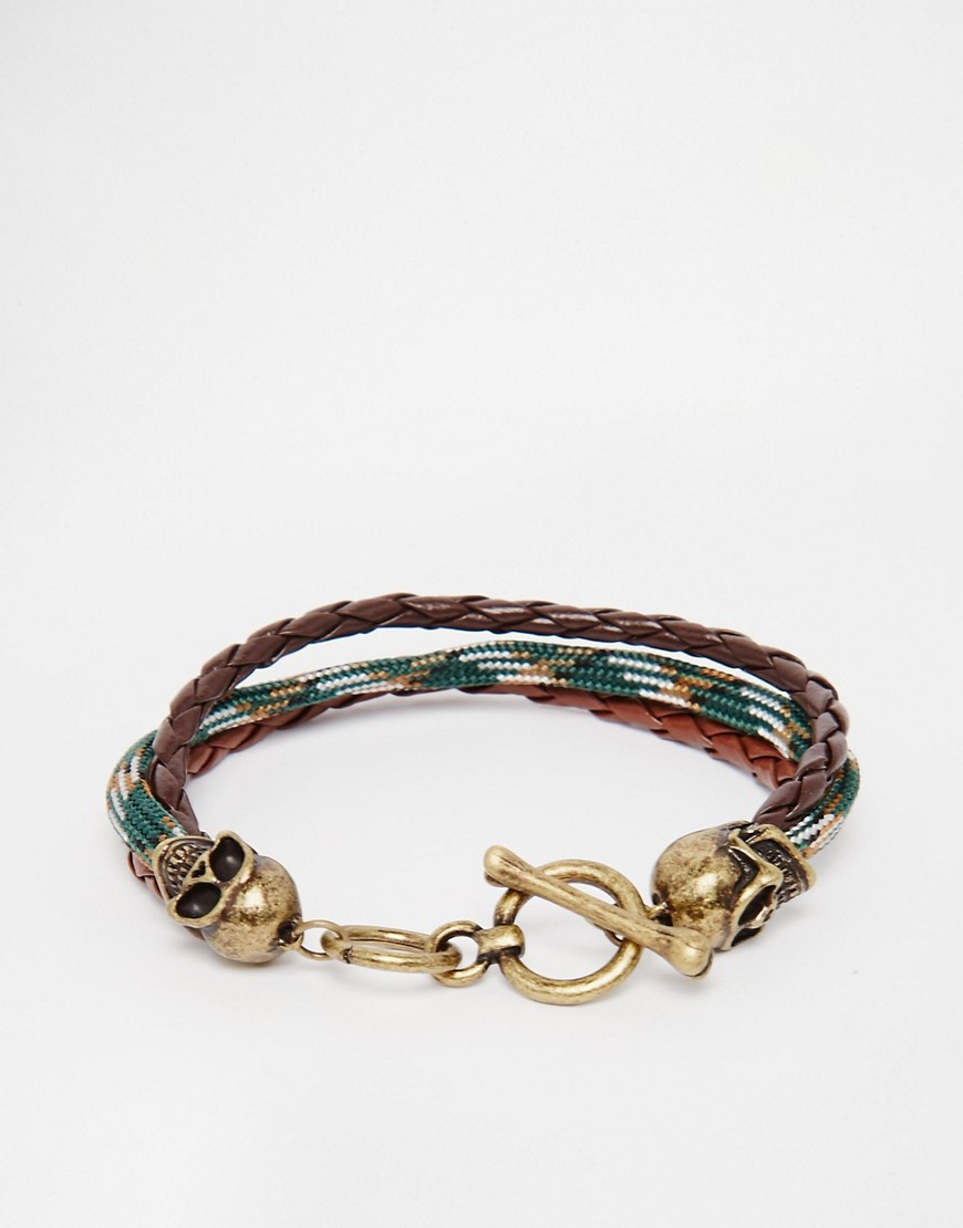 icon-brand-skull-plaited-bracelet-green