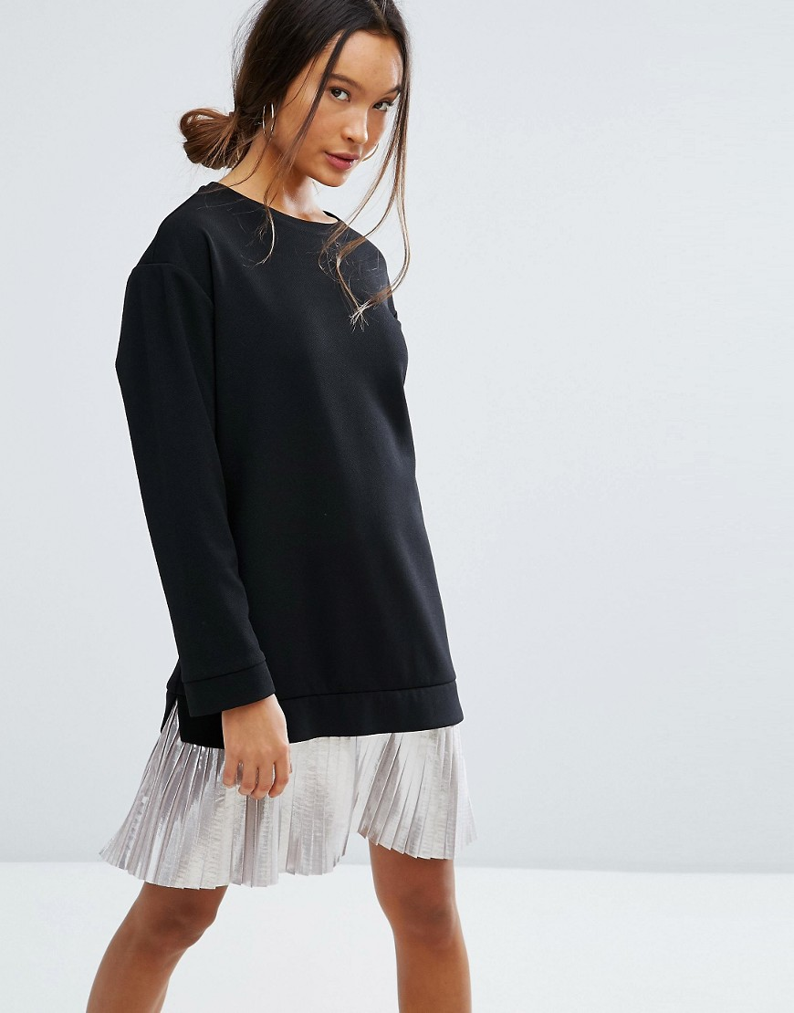Photo of ASOS 2 in 1 Dress With Pleated Foil Skirt - shop ASOS jumpsuits