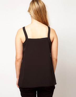 Image 2 ofASOS CURVE Exclusive Cami With Layers and Buttons