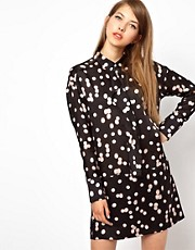 Sonia by Sonia Rykiel Silk Cotton Shirt Dress in Evening Lights Print