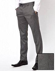 Caxton Skinny Fit Textured Trousers
