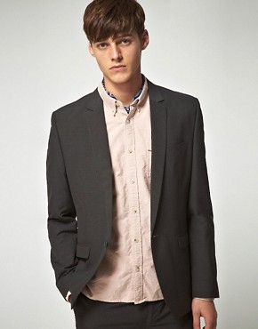 ASOS Slim Fit Charcoal Suit Jacket