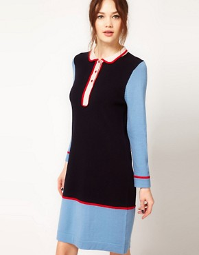 Image 1 ofBoutique by Jaeger Knitted Dress with Collar