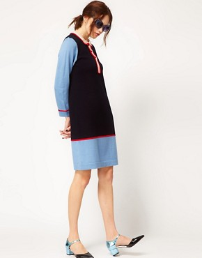 Image 4 ofBoutique by Jaeger Knitted Dress with Collar