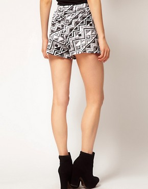 Image 2 ofASOS Culottes in Mono Aztec Print