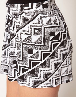 Image 3 ofASOS Culottes in Mono Aztec Print