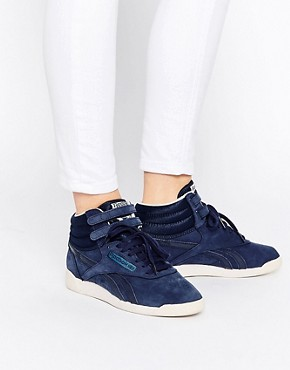 Reebok Navy Suede High Top Trainers
