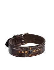 Diesel Amsci Leather Bracelet