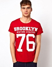 River Island T-Shirt With Brooklyn Print