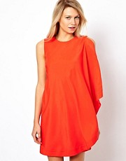 Ted Baker One Sided Draped Tunic Dress