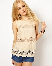 River Island Crochet Shell Top