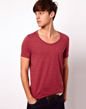 Image 1 ofASOS T-Shirt With Bound Scoop Neck