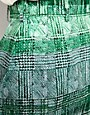 Image 3 ofPeter Jensen Pencil Skirt in Green Striped Check