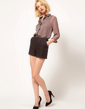 Image 1 ofASOS Tailored Shorts In Lace