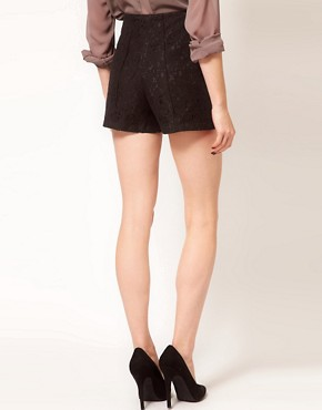 Image 2 ofASOS Tailored Shorts In Lace