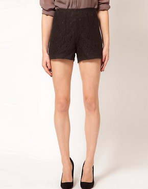 Image 4 ofASOS Tailored Shorts In Lace