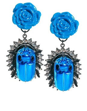 Image 1 ofASOS Rose Beetle Earrings