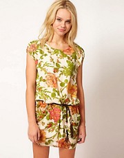 Traffic People Rambling Rose Dress With Belt