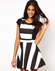 John Zack Pinafore Dress In Stripe