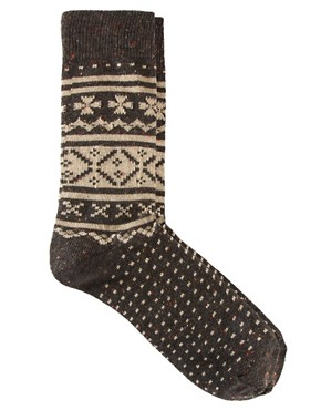 Image 1 ofASOS Fairisle Socks