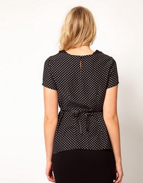Image 2 ofASOS Maternity Printed Top With Crochet Collar