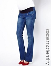 ASOS Maternity Lennox Flare Jean In Vintage Wash