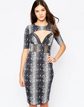 Style Stalker Dance Dress in Snake Print