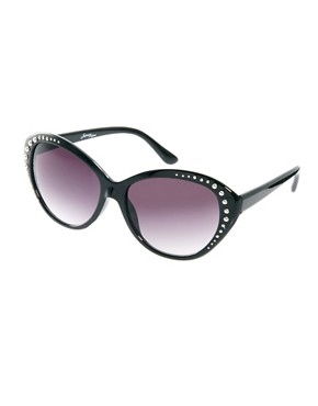 Image 1 ofJeepers Peepers Heidi Cat Eye Black Sunglasses
