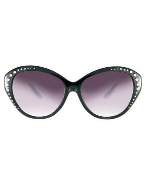 Image 2 ofJeepers Peepers Heidi Cat Eye Black Sunglasses
