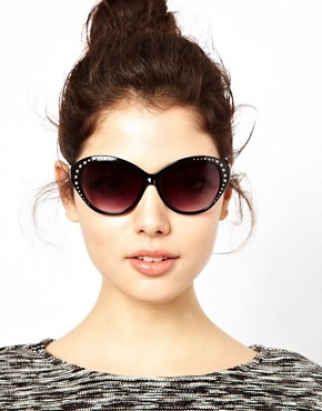 Image 3 ofJeepers Peepers Heidi Cat Eye Black Sunglasses