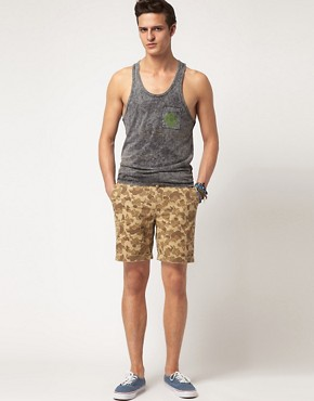 Image 4 ofASOS Camo Print Chino Short