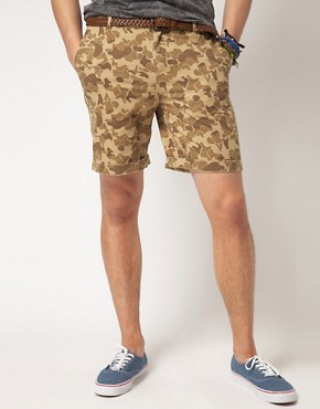 Image 1 ofASOS Camo Print Chino Short
