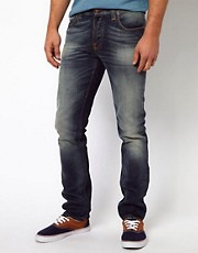 Nudie  Grim Tim  Enge Jeans in Dust Wash